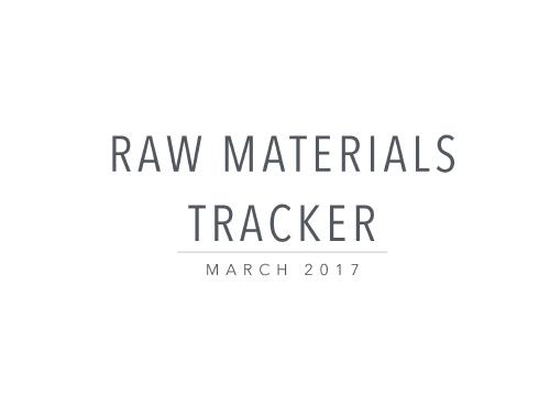 Raw Materials Tracker
